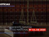 Ato Do Presidente Da Mesa Do Congresso Nacional N 44 De 2020 - Abrir Empresa Simples